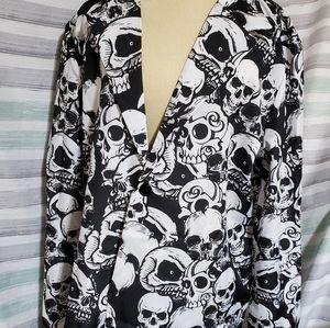 U Look Ugly Today Skulls suit jacket